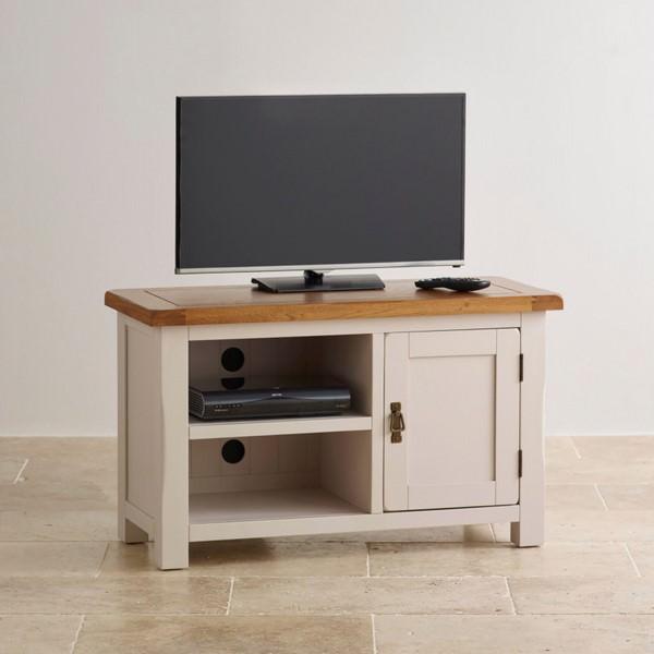 Tủ TV 1 Cánh Kemble Gỗ Sồi Ibie LV1KEMO - Trắng (100 x 42 cm)