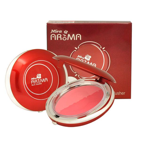 Phấn má hồng Mira Aroma Multi Blusher Hàn Quốc 13g No.21: Hồng và đỏ tặng kèm móc khoá