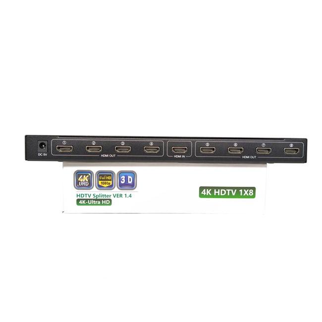 Bộ chia tín hiệu HDMI SPLITTER -4K-Utra HD 1 ra 8 HDMI - Hàng Chính Hãng