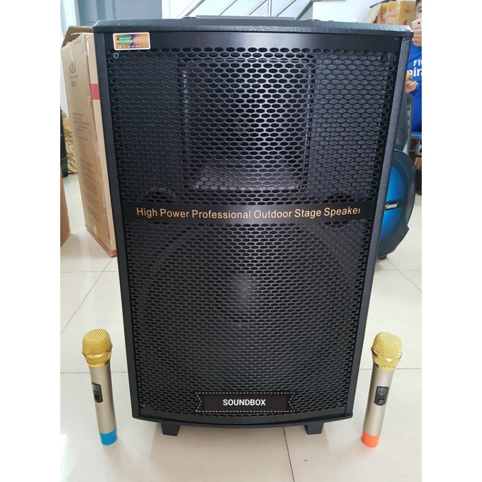 Loa kéo soundbox s01b 4 tấc, Loa kéo loa tủ di động karaoke và nghe nhạc (Hàng chính hãng)