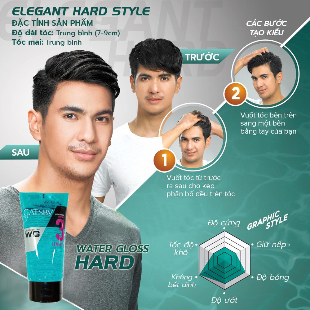 Gel Tạo Kiểu Siêu Cứng Water Gloss Hard Cấp Độ 3 + Tặng Reuzel Grooming Tonic - Chính hãng - WATER GLOSS 170G
