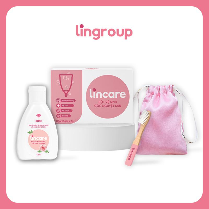 Combo 4 sản phẩm Lincare vệ sinh và bảo quản cốc nguyệt san (Full)