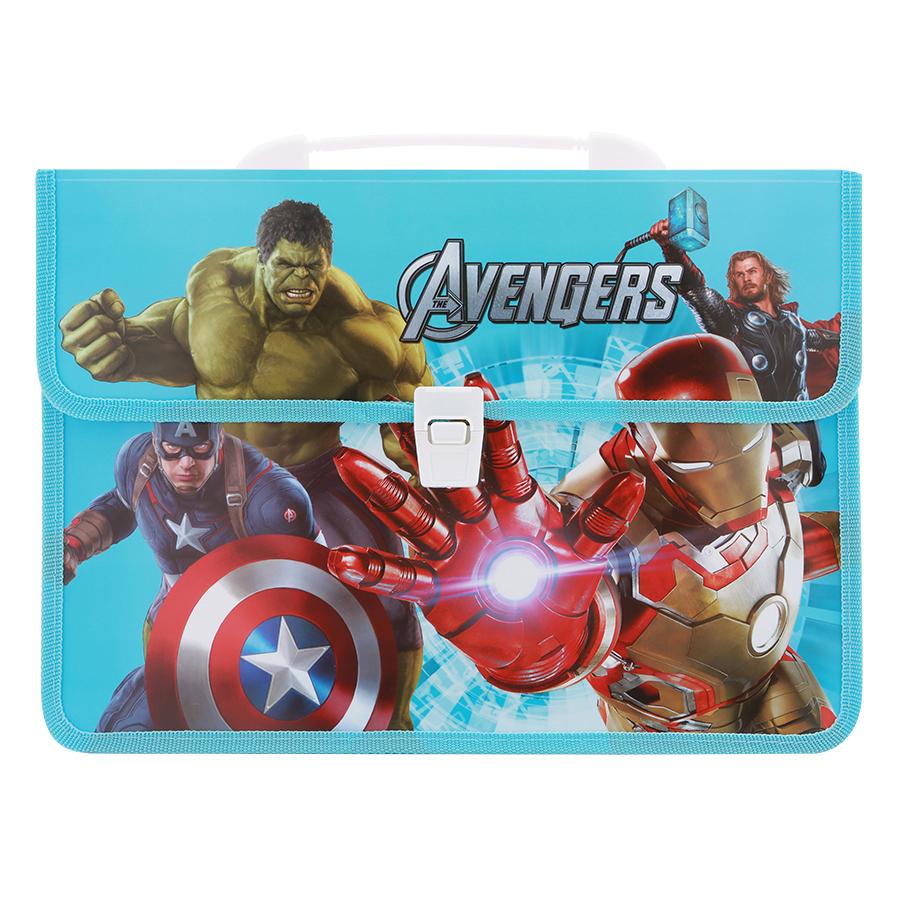 Combo Cặp Học Sinh 2 Ngăn Và Thước Nhựa - Hình Avengers