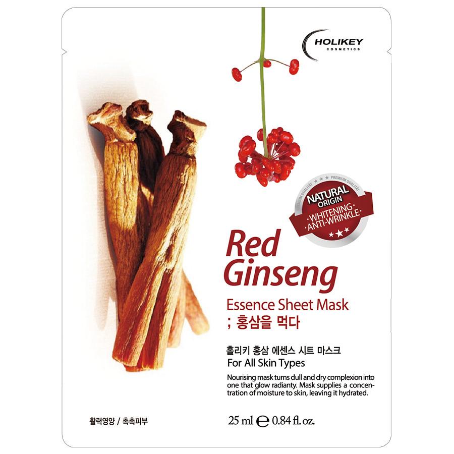 Mặt Nạ Nhân Sâm Đỏ Giúp Trẻ Hoá Và Dưỡng Ẩm Cho Da Holikey Red Ginseng Essence Sheet Mask