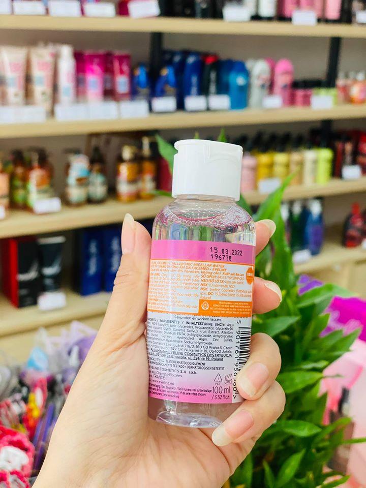 Nước tẩy trang dưỡng ẩm cho da khô và nhạy cảm Eveline 100ml