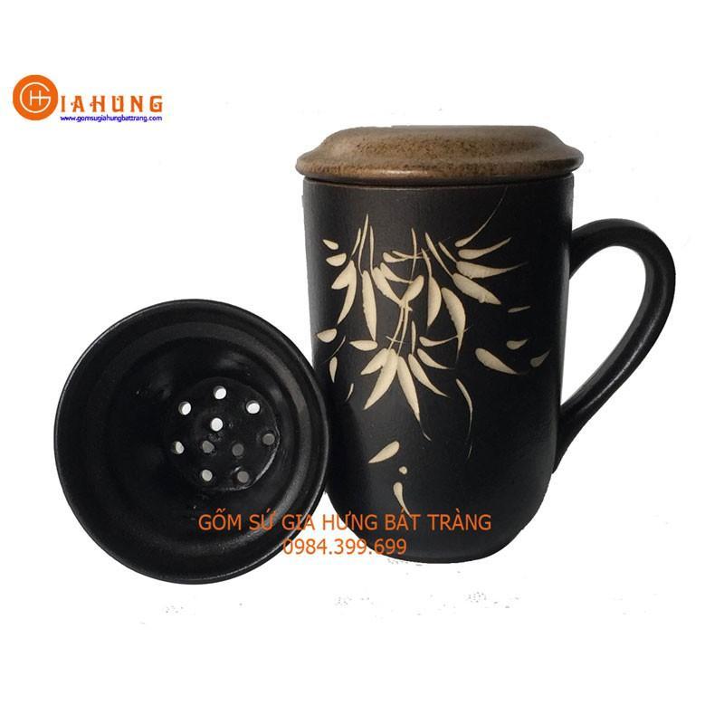 Bộ tách cốc lọc trà gốm Bát Tràng
