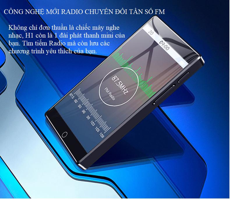 Máy nghe nhạc Bluetooth RUIZU H1 8G màn hình cảm ứng - Hàng nhập khẩu