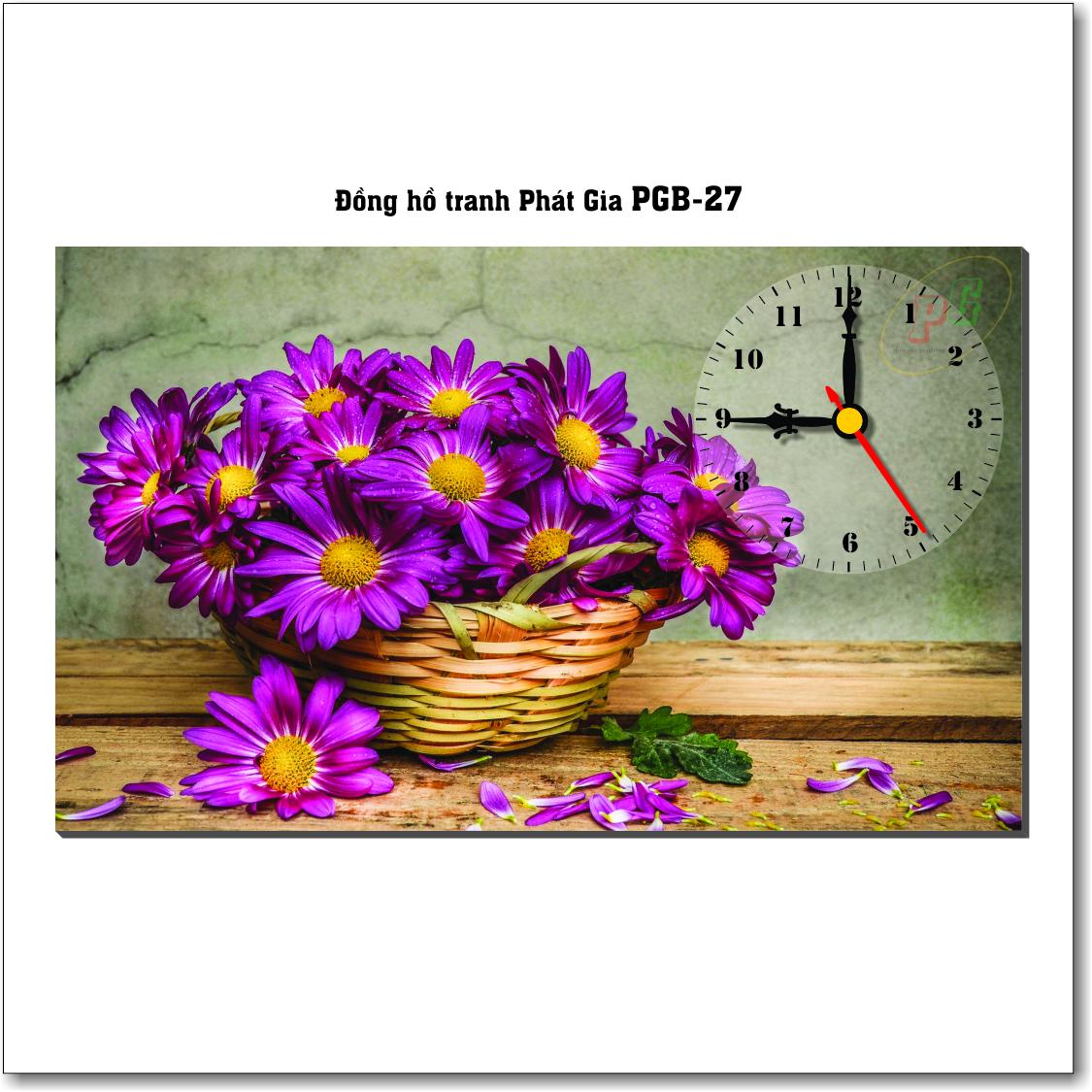 Đồng hồ tranh để bàn PGB-27