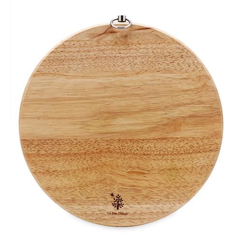Thớt gỗ tròn có khoen xoay D240 Gỗ Đức Thành 02051