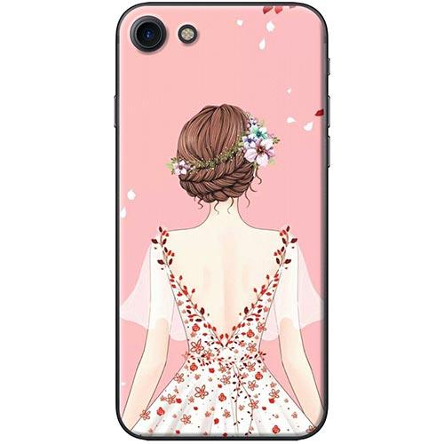 Ốp Lưng Hình Cô Gái Áo Hồng Dành Cho iPhone 7  8