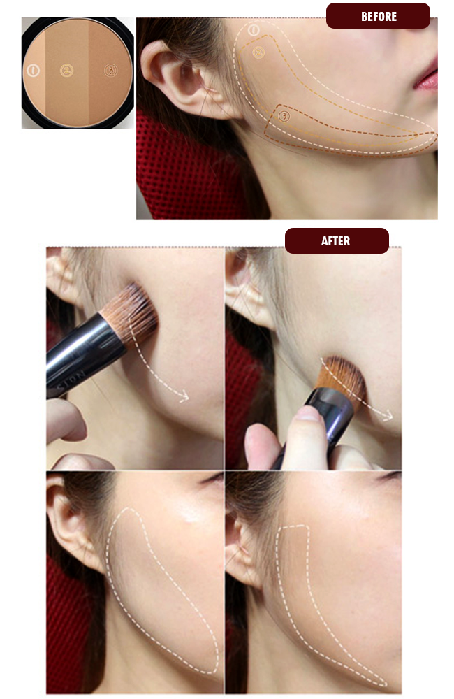 Phấn Tạo Khối Macqueen Fake Up 3 Color Shading 5