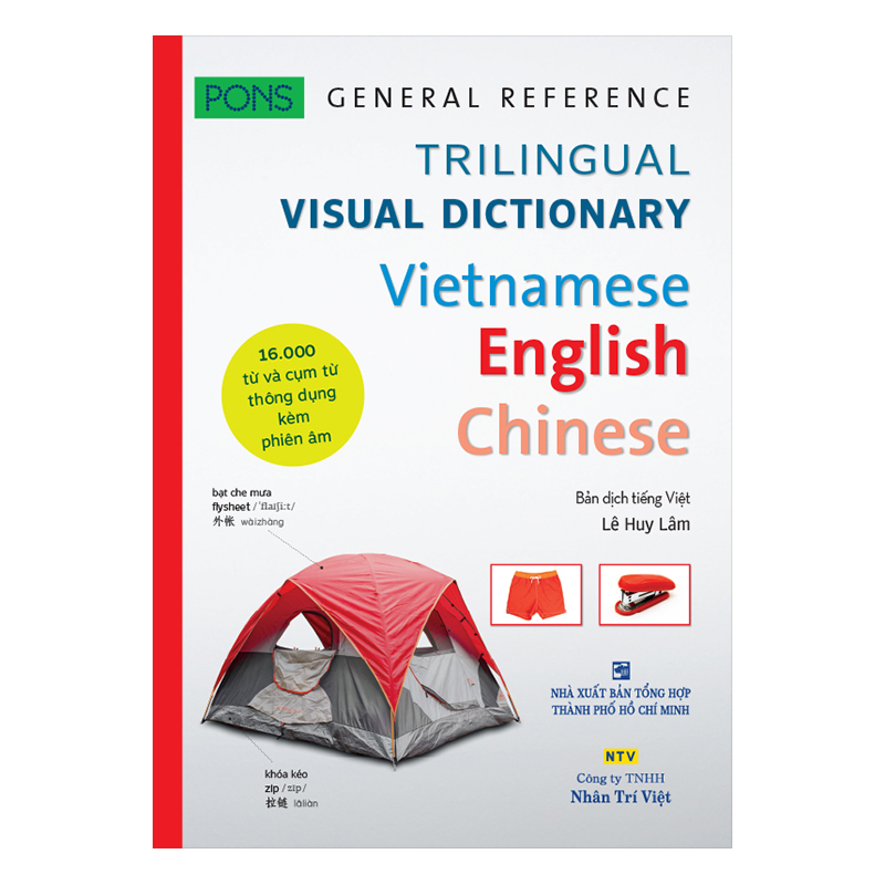 PONS GENERAL REFERENCE – TRILINGUAL VISUAL DICTIONARY Vietnamese–English–Chinese