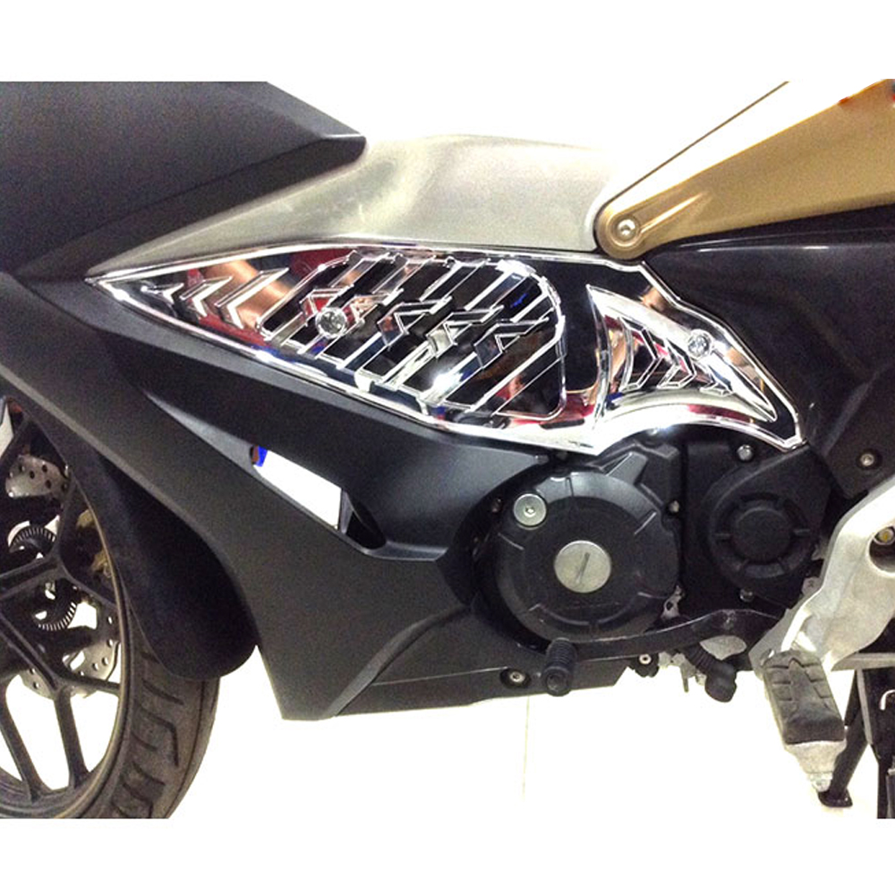 Bộ Ốp Sườn Honda Winner X Nhựa Xi V3 + Tặng 01 Móc Gắng Chìa Khóa Xe Ngẫu Nhiên