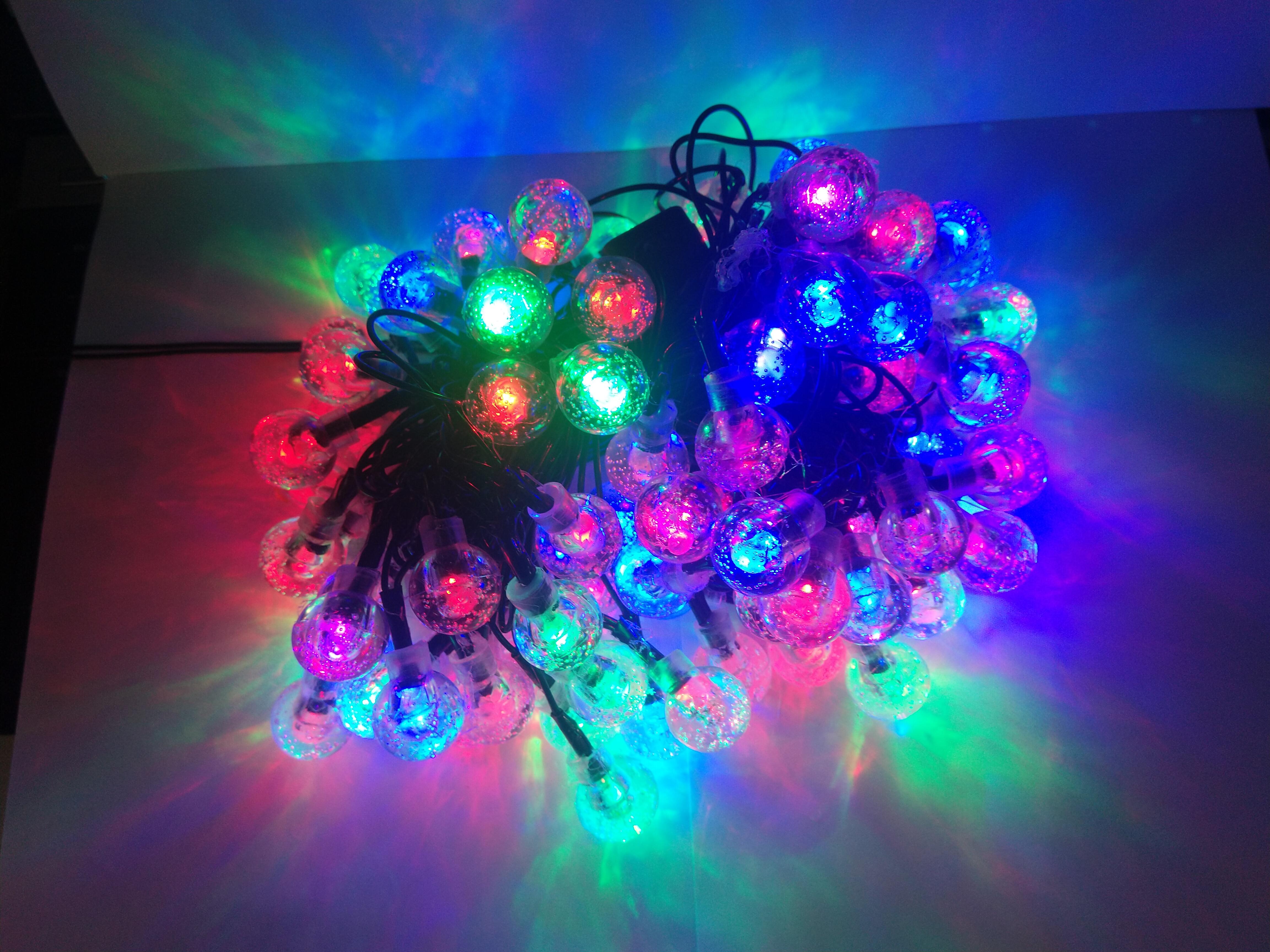 Dây đèn Led Trang trí Bi bọt nước nhỏ 80 bóng nháy nhiều màu