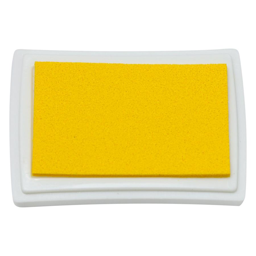 Hộp Mực Dấu Craft Ink Pad - Màu Vàng