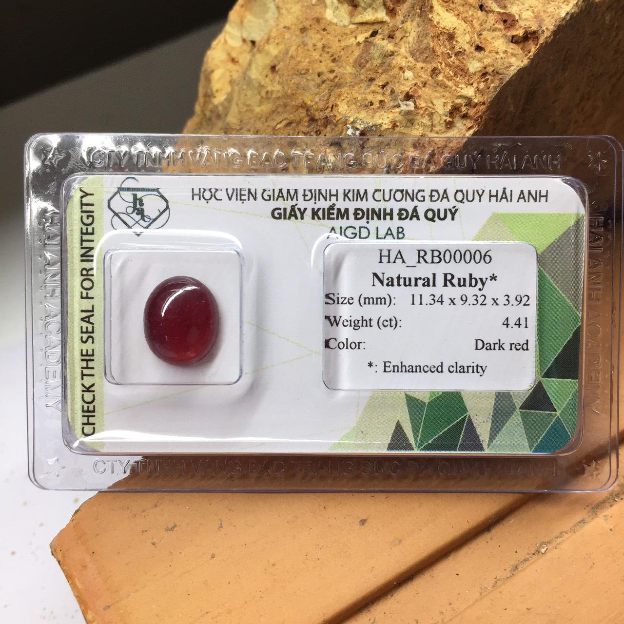 Viên đá Ruby thiên nhiên_HA-RB00006