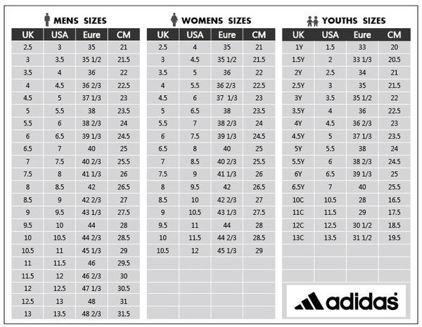 Bảng quy đổi size giày và cách chọn size của Nike và adidas
