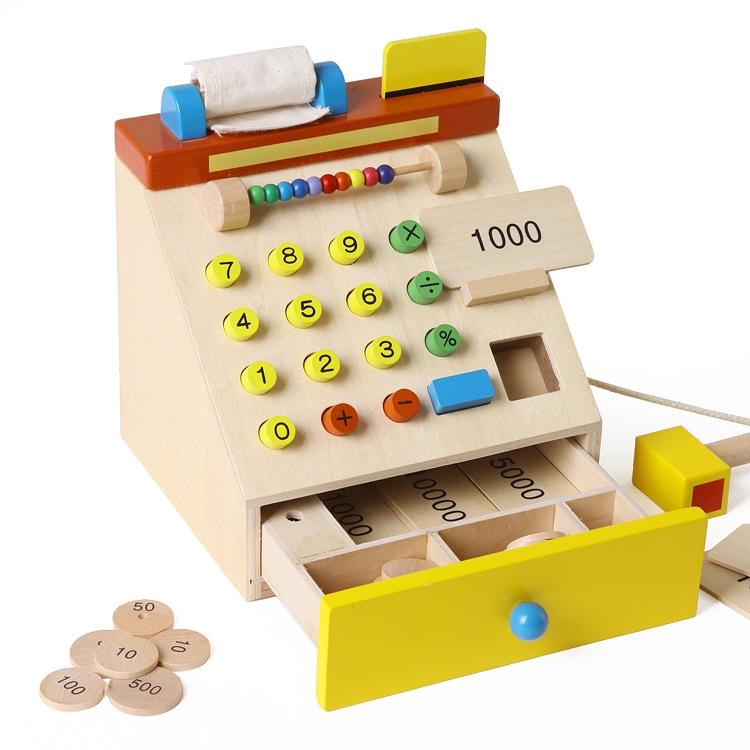 Máy thu ngân đồ chơi gỗ