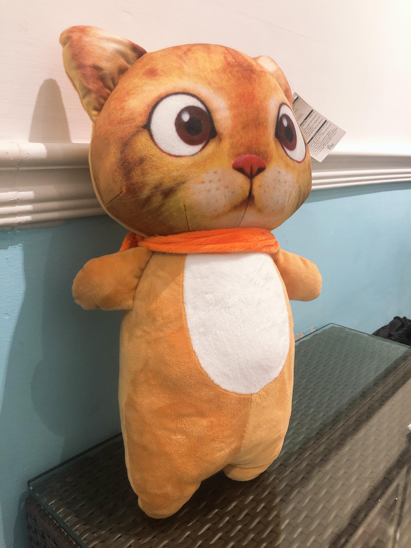 Gấu bông mèo cam mặt 3D