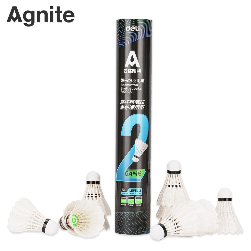 Hộp cầu lông Agnite 12 quả - Phù hợp thi đầu và luyện tập - Hàng chính hãng - F2202S