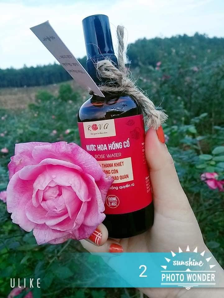Nước hoa hồng Rova làm sáng da 100% thiên nhiên, không cồn, không chất bảo quản, dưỡng ẩm