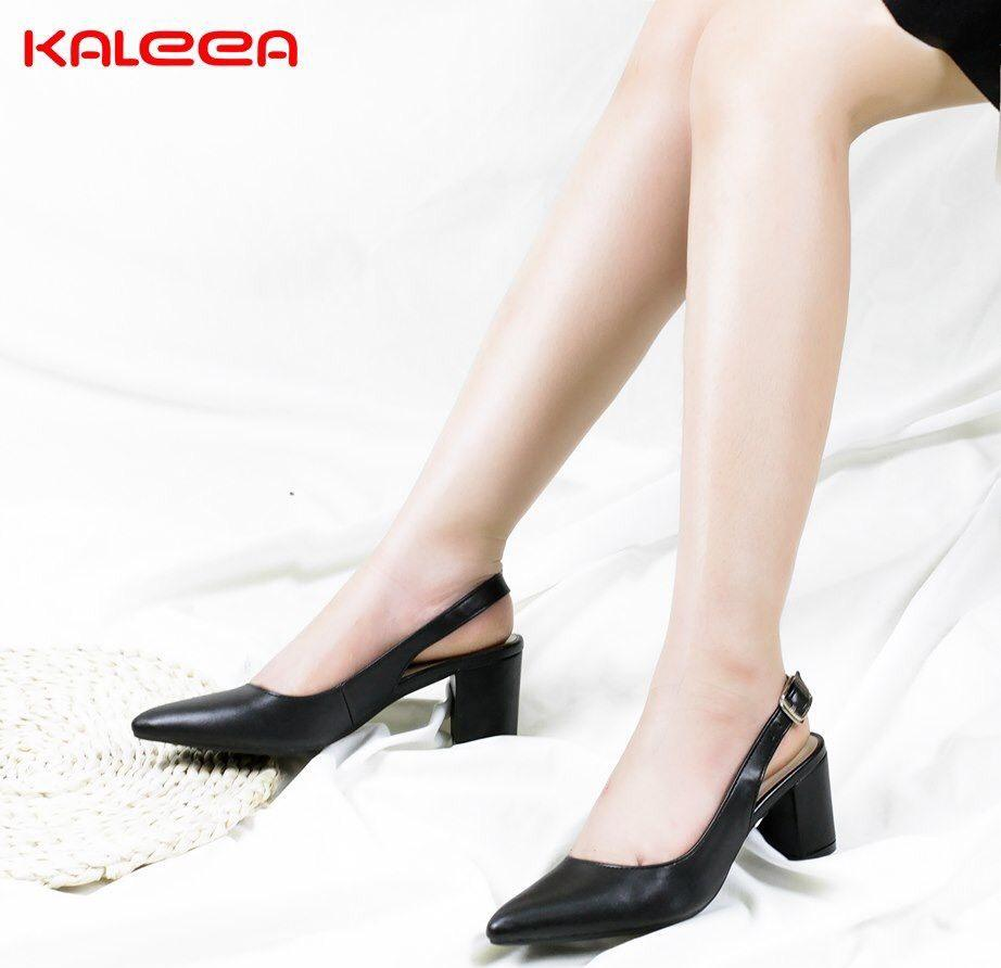 Giày Sandal Kaleea cao gót 5cm đế vuông
