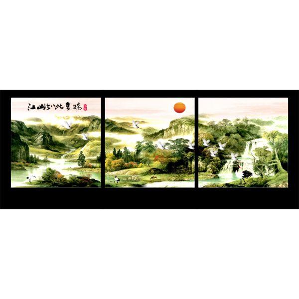 Tranh Treo Tường Hiện Đại Phòng Khách - Sơn Dầu T3M--456