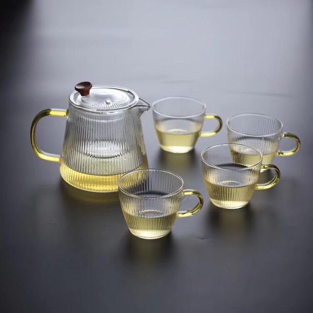 Ấm pha trà lõi lọc thủy tinh cao cấp chịu nhiệt - ANTH460