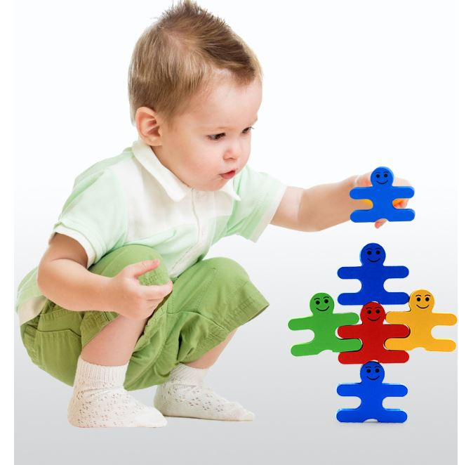 Đồ chơi Gỗ - Thăng Bằng Khối - Balance Villain Blocks