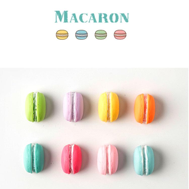 Combo 6 Nam châm hít tủ lạnh hình Bánh Macaron mô hình (Màu ngẫu nhiên)