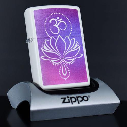 Bật Lửa Zippo 214 Ohm Lotus Design