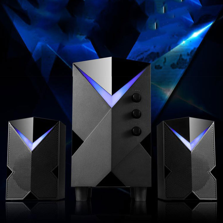 Bộ 3 Loa Vi Tính Chất Lương Cao H8 Hỗ Trợ Bluetooth, Âm Thanh Siêu Trầm, Thiết Kế Sang Trọng Cao Cấp