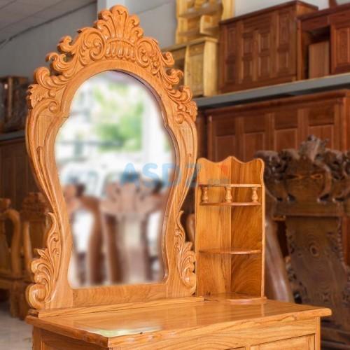 Bàn trang điểm gỗ gõ 80cm cao cấp