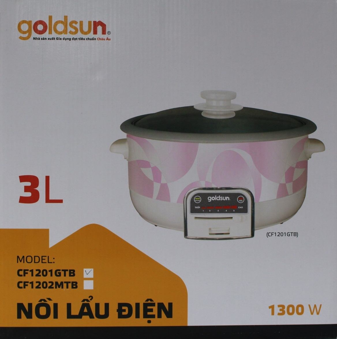 Nồi Lẩu Điện Goldsun CF1201GTB - Chính Hãng