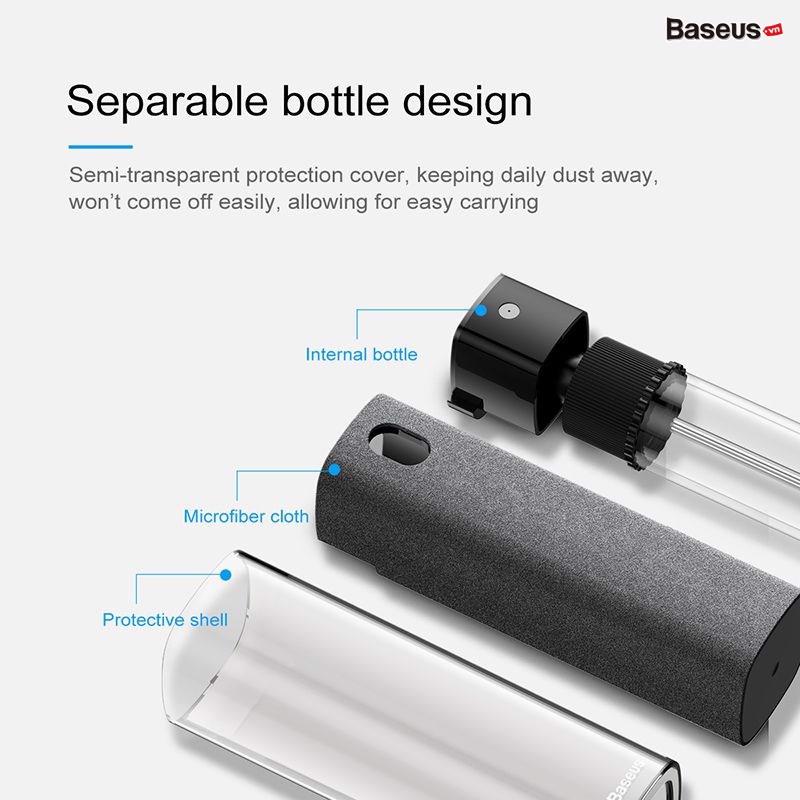 Dụng cụ vệ sinh chuyên dụng dành cho màn hình Baseus one-piece screen cleaner set (Hồng)HÀNG NHẬP KHẨU