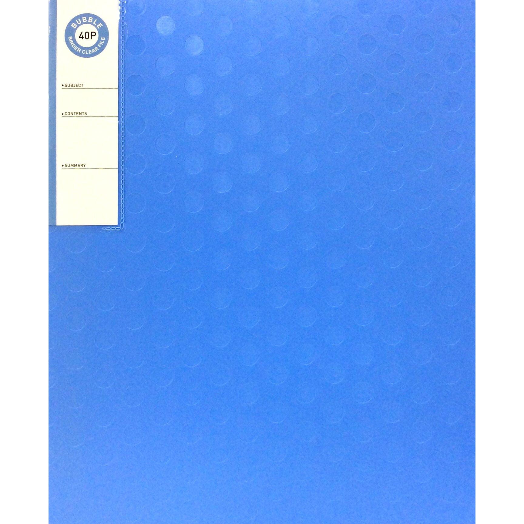 MGL_Bìa Lá 68523_5500 Buble Binder C/F 40P(Blue)