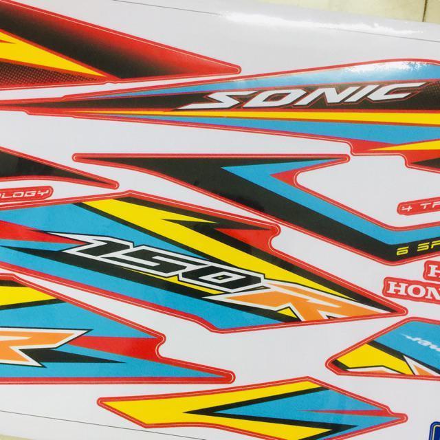 Tem dành cho xe Sonic 150 R rời xe đỏ