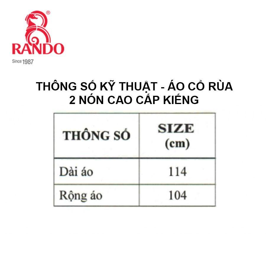 ÁO MƯA CỔ RÙA 2 NÓN CAO CẤP KIẾNG - RANDO