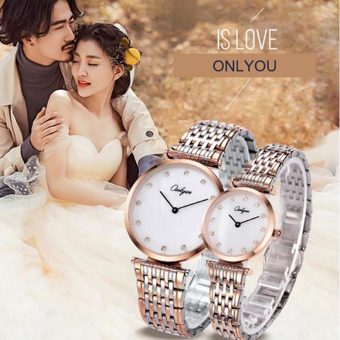Đồng hồ Onlyou Nam 81099GL Dây thép không gỉ 38mm