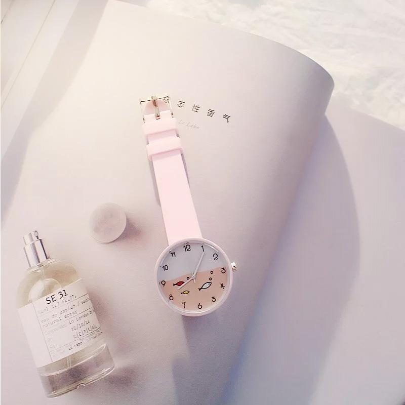 Đồng hồ Ulzzang thời trang cho bé gái hình con cá – DH001