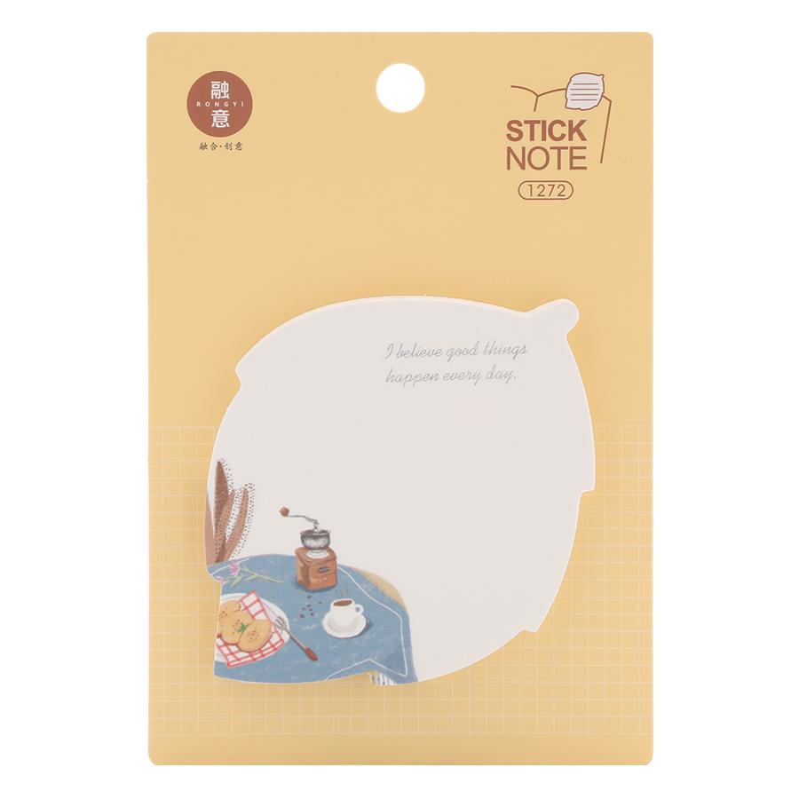 Lốc 4 Xấp Giấy Note No.1272 - Hình Lá Cây