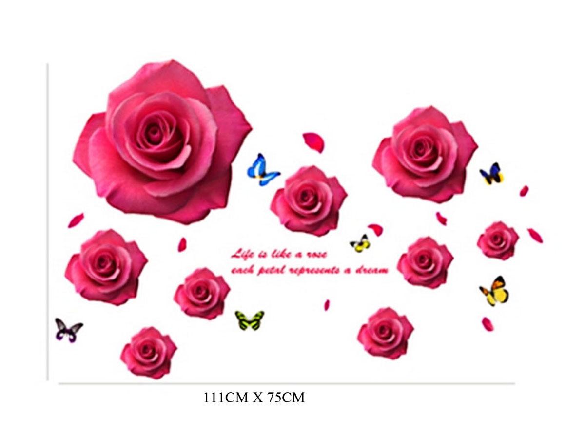 Decal dán tường cánh hồng 1380