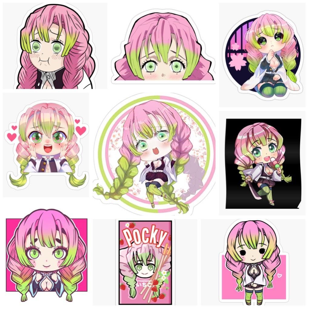 Set 30 Sticker Kanroji Mitsuri-Kimetsu no Yaiba
