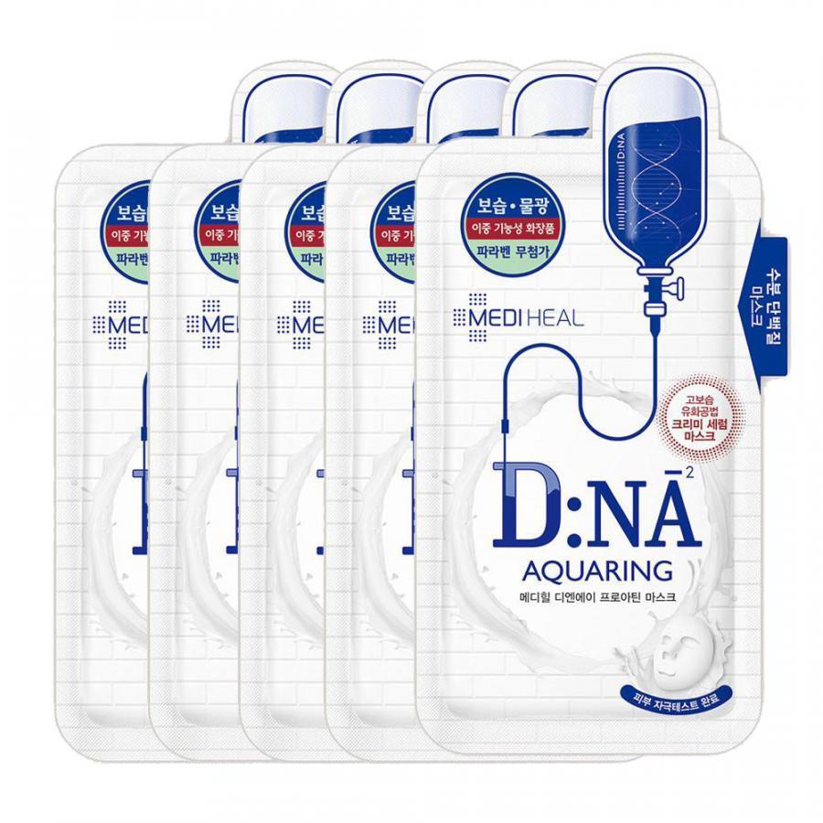 Combo 5 Mặt nạ cấp nước dưỡng ẩm, phục hồi làn da Mediheal D:NA Proatin Mask (Aquaring) 25ml x5