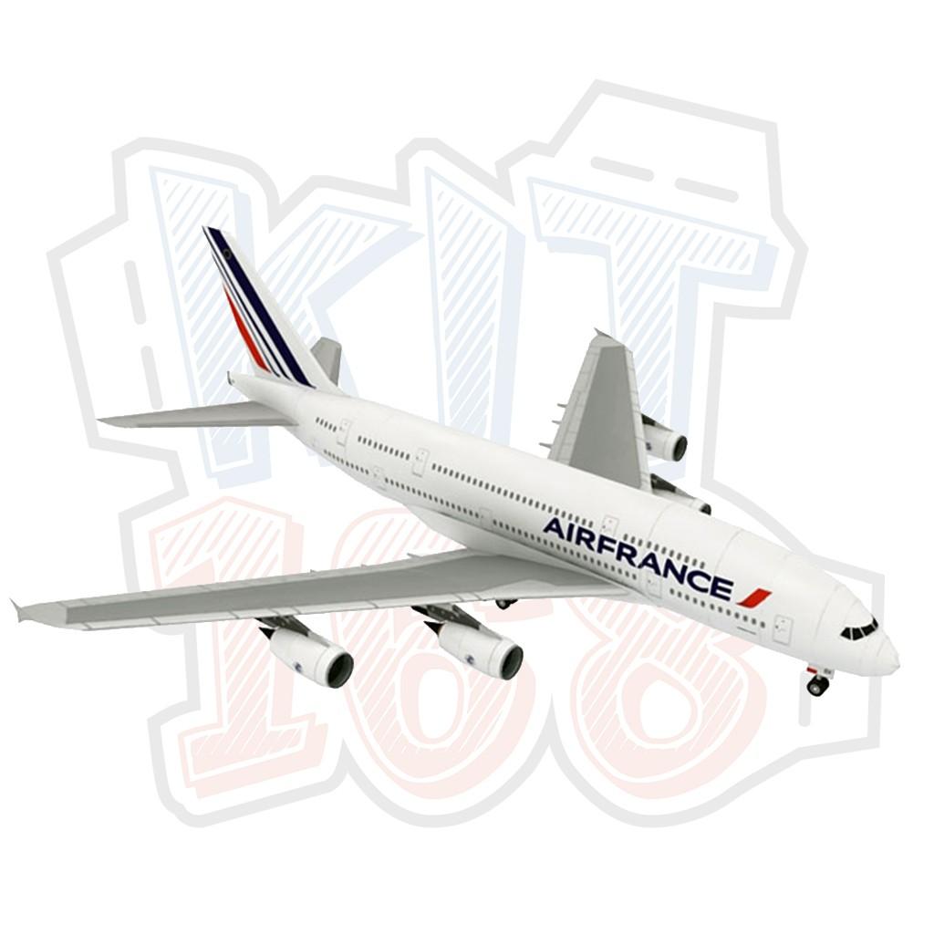 Mô hình giấy máy bay Air France Airbus A380