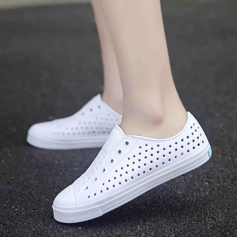 Giày nhựa lỗ thoáng khí cao cấp đi mưa, đi nắng cho nữ - MH40