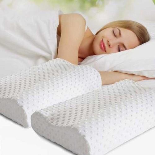 Gối cao su non người lớn cao cấp , gối ngủ chống đau vai gáy, ngáy ngủ  thiết kế gọn nhẹ, giúp chăm sóc giấc ngủ cho bạn mỗi ngày ( giao màu ngẫu nhiên )