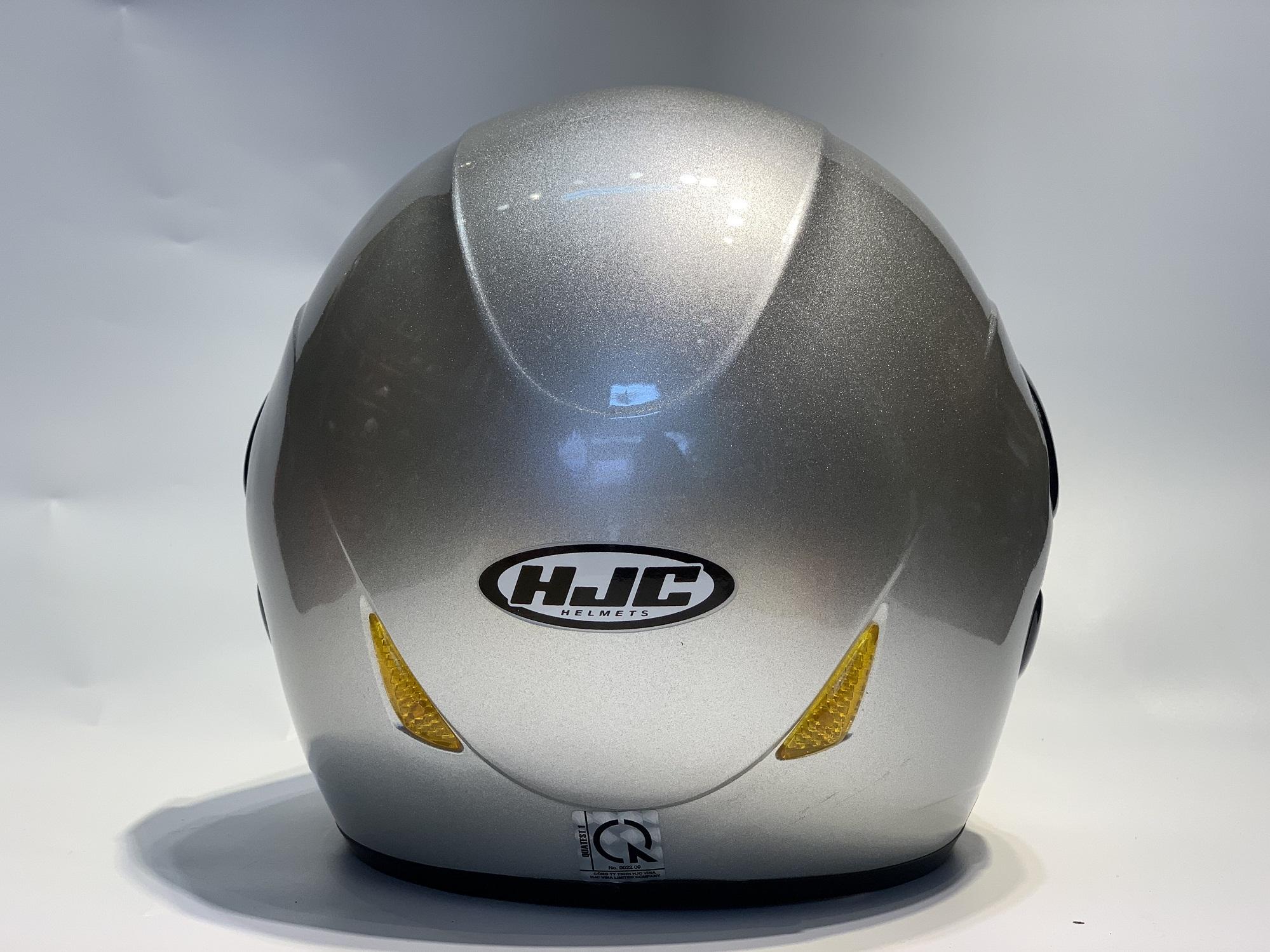 Mũ Bảo Hiểm Trùm Đầu Có Kính HJC VO20 Bạc Bóng