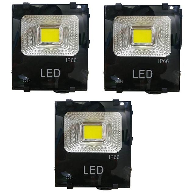 Bộ 3 đèn Led pha COB 30w