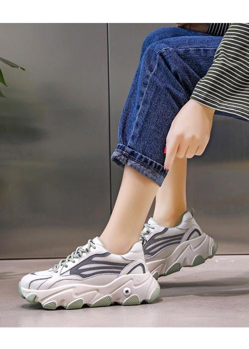 Hình ảnh Giày thể thao nữ, giày sneaker nữ lưới đế 3 màu thời trang Hàn Quốc